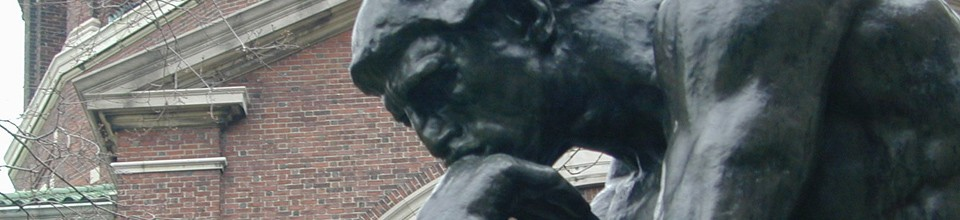 statue of thinking man